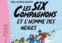 six compagnons et homme des neiges