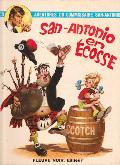 les aventures du commissaire San-Antonio - bd - san-antonio en ecosse
