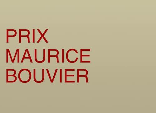 PRIX MAURICE BOUVIER