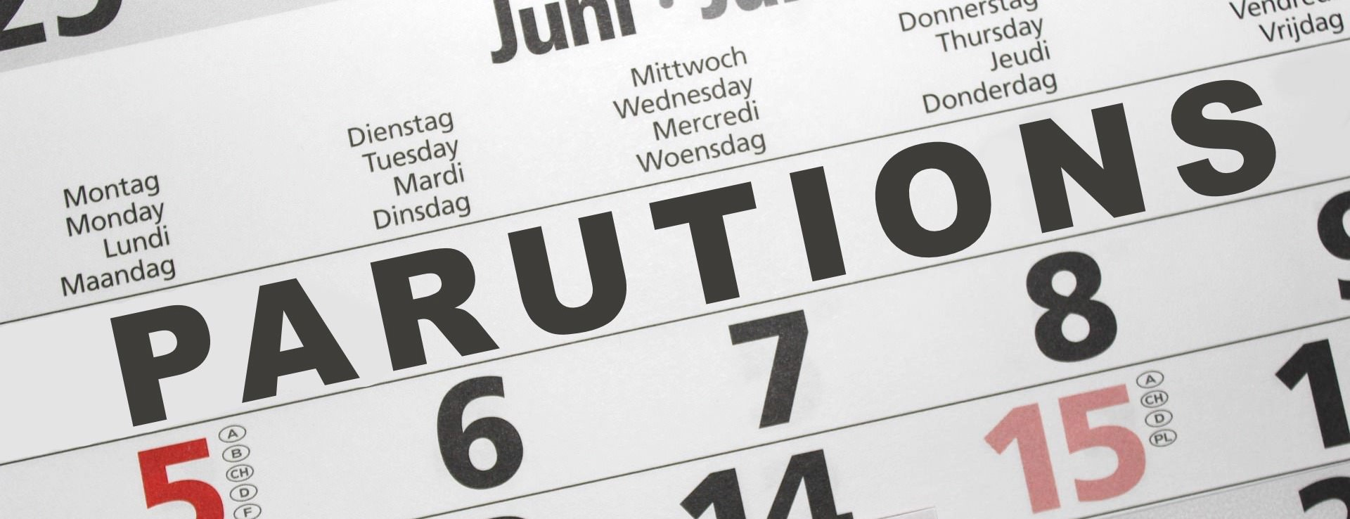 Parution - date - agenda