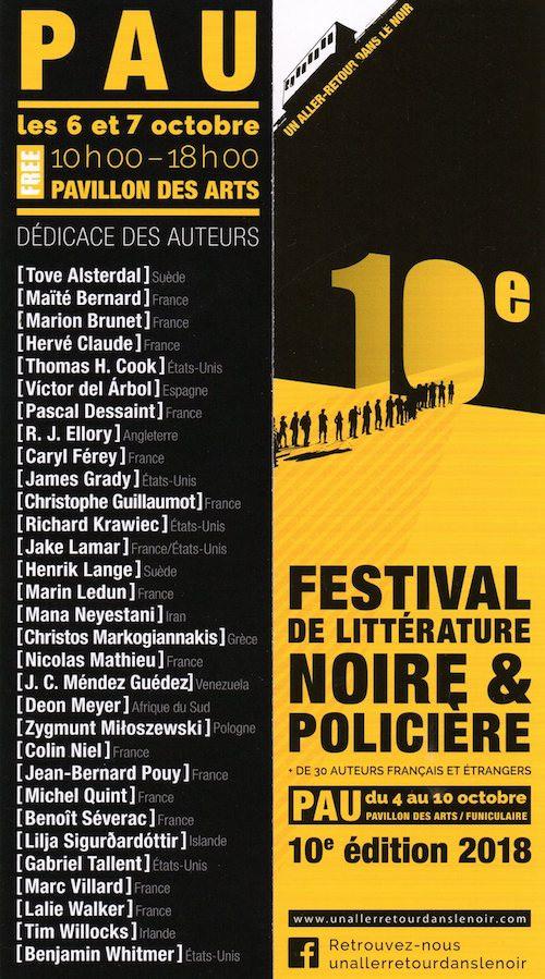 Festival de littérature noire et policiere 2018