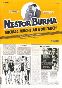 Nestor BURMA - journal - Micmac moche au Boul Mich