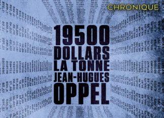 Jean-Hugues OPPEL - 19 500 dollars tonne