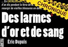 Eric DUPUIS : Des larmes d'or et de sang